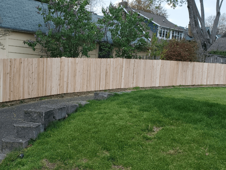 #111 solid wood picket fence