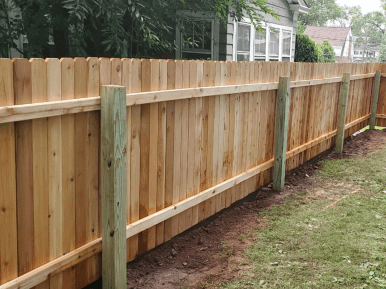 #111 Wood fence with #03 posts