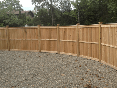 #220 Solid Wood Fence With MidRail