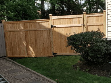 #220 Solid Wood Fence