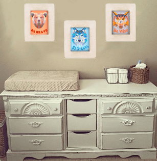 Animal Geomatric printable set on baby wall