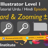 Adobe Illustrator Episode 03(b) – Artboard & Zooming – Urdu/Hindi