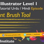 Adobe Illustrator Episode 13 – Paint Brush Tool – Urdu/Hindi