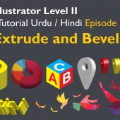 Adobe Illustrator Episode 33 – 3D Extrude and Bevel – Urdu/Hindi