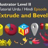 Adobe Illustrator Episode 33 – 3D Extrude and Bevel – Urdu/Hindi