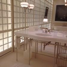 NYC white thassos marble sink