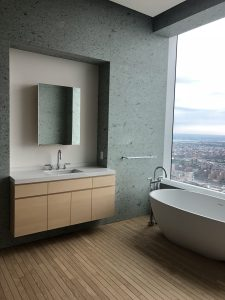 432 Park Ave bathroom 3 vanity and bathtub in Japanese marble