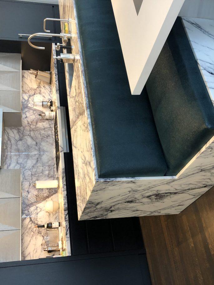 Calacatta violet marble kitchen