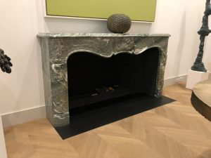 Antique french marble fireplace mantel