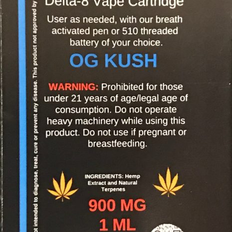 Endo OG Kush Delta 8 Cartridge