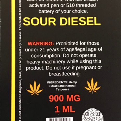 Endo Delta 8 sour diesel cartridge vape 1000 mg 1ml