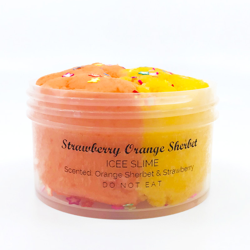 Strawberry Orange Sherbet Slime