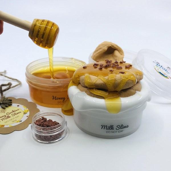 Honey Cookies and Milk DIY Slime