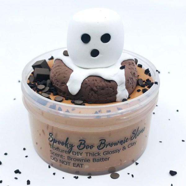 Spooky Boo Brownie DIY Slime