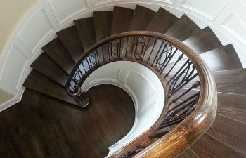 Curved Stairs Wrought Iron A Perfect Pair Southern Staircase | Curved Wrought Iron Railings | Colonial | Wood | Wall Mounted | Outdoor | Veranda