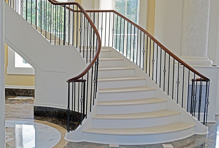 Flared Staircase Custom Stairs Artistic Stairs