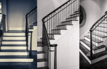 Wrought Iron Stair Railing Showcase A Classic Project Southern | Iron Handrails For Stairs Interior | Wall Mounted | Balcony | Dark Brown | Room Divider | Custom