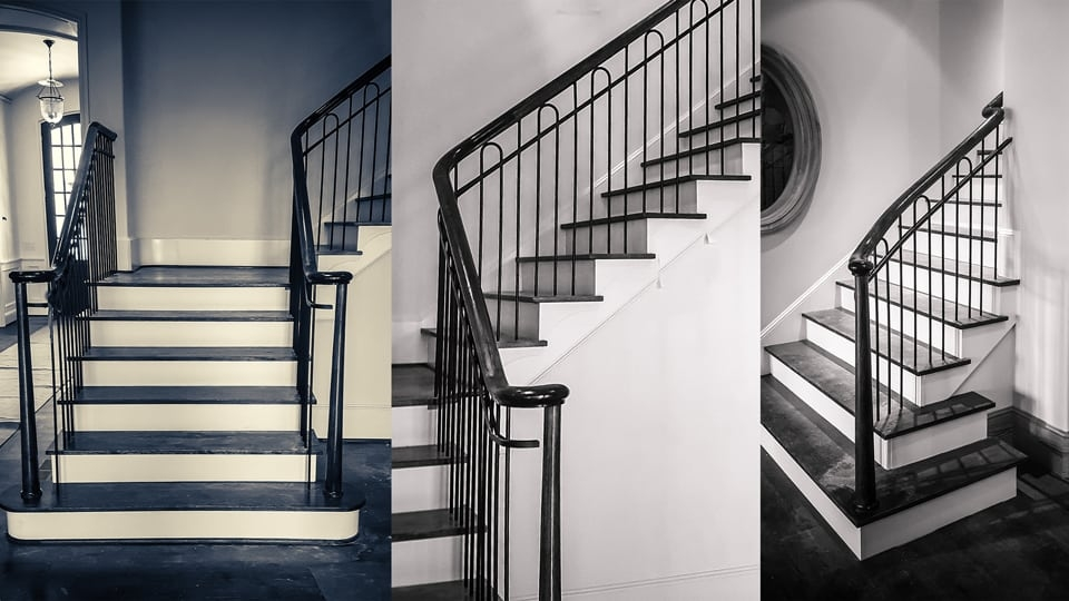 Wrought Iron Stair Railing Showcase A Classic Project Southern | Black Metal Stair Railing | Minimalist Simple Stair | Craftsman Style | Brushed Nickel | Rustic | Horizontal