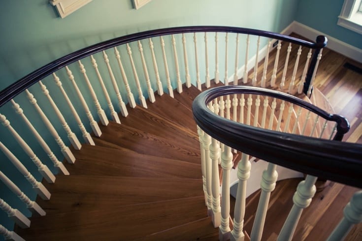 The Basics Of Wooden Baluster Design Southern Staircase | Wooden Hand Railing Designs | Light Wood | Residential Industrial Stair | Wood Panel | Decorative Glass | Scandinavian