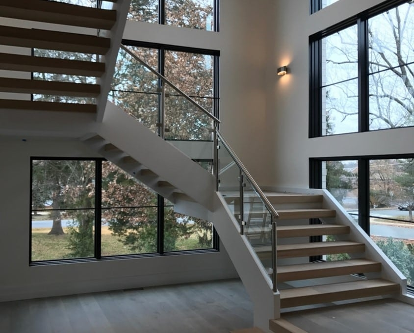 Stair Design Photo Of The Month Modern Open Riser Staircase | Tread Riser Staircase Design | Effective | Contemporary | Cad Detail | Folded Plate | Angled