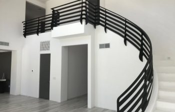 Stair Design Photo Of The Month Interior And Exterior Wrought | Curved Wrought Iron Railings | Colonial | Wood | Wall Mounted | Outdoor | Veranda