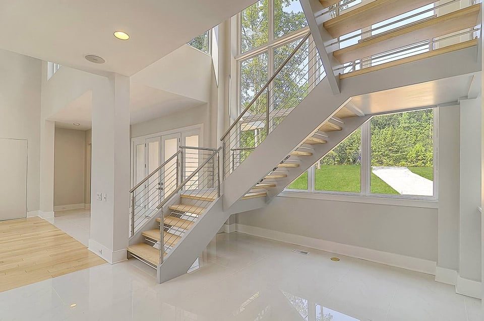Stainless Steel Staircase Southern Staircase Artistic Stairs | Stainless Steel Staircase Designs | Grill | Ultra Modern Stair Grill | Affordable | Glass | Solid Steel