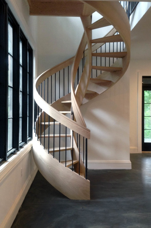 Curved Stairs Southern Staircase Artistic Stairs   Steel Round Staircase Design   Stair Steel Grill   Top Floor Railing   Terraced House   Semi Circular   Circle Stair