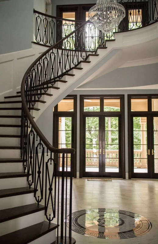 Wrought Iron Stair Railing Southern Staircase Artistic Stairs | Iron Stair Railing Indoor | Cast Iron Balusters | Railing Kits | Interior Wrought | Rod Iron | Wood