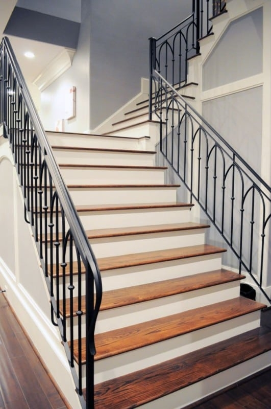Wrought Iron Stair Railing Southern Staircase Artistic Stairs | Wrought Iron Railing Interior | Building Iron | Stair | Gallery | Victorian | Outdoor