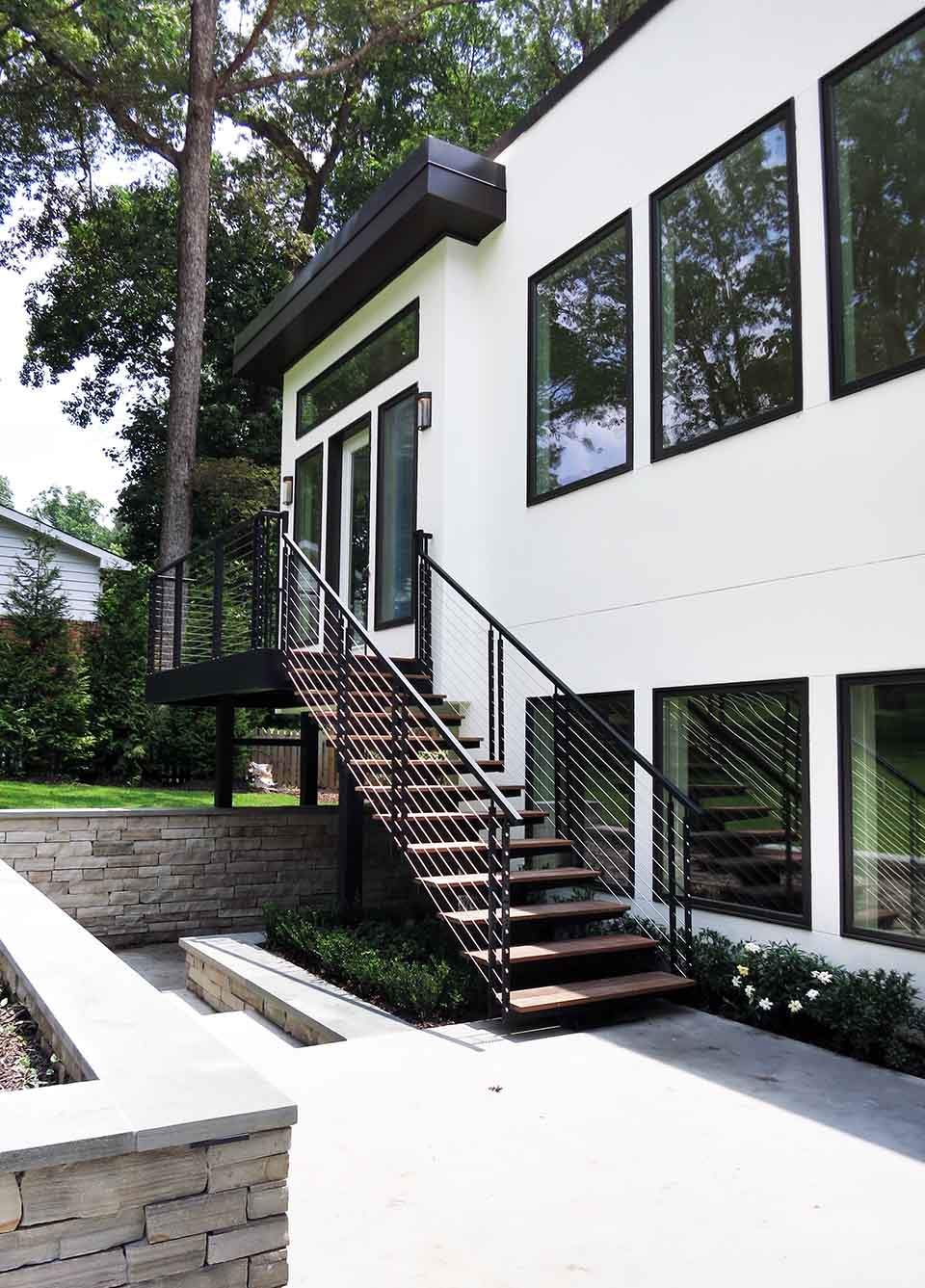 Exterior Stairs Southern Staircase Artistic Stairs | Modern Stairs Design Outdoor | Indoor | Prefab Metal Residential Exterior | Terrace | Metal | Railing