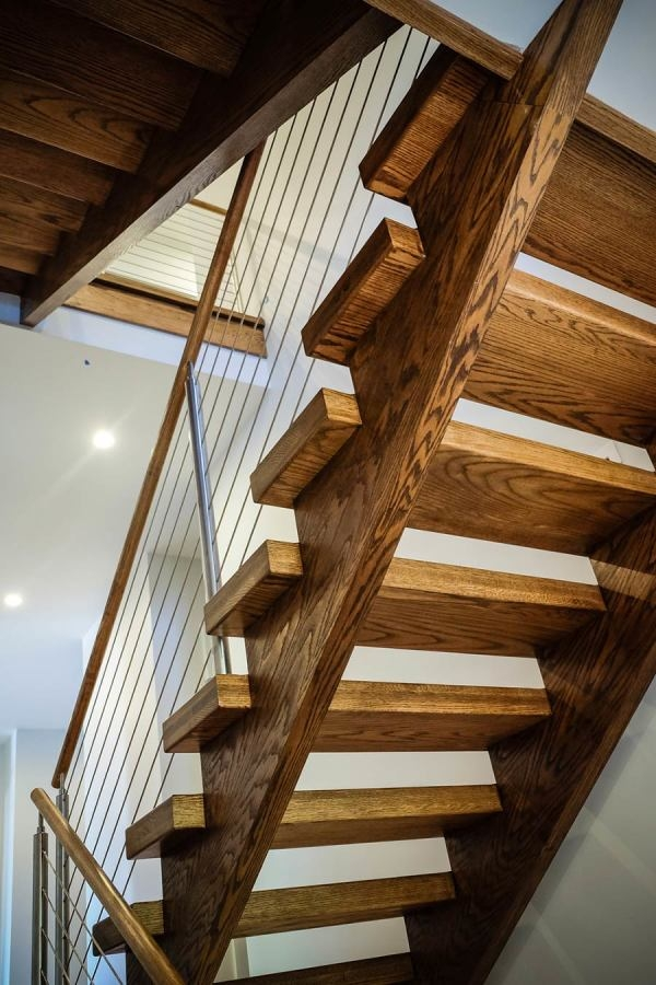 Open Riser Stairs Southern Staircase Artistic Stairs   Open Tread Staircase Designs