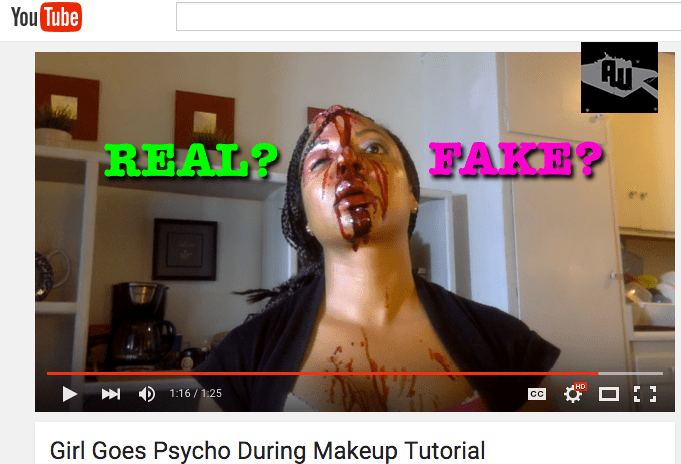Girl Goes Psycho During Makeup Tutorial REAL or FAKE?