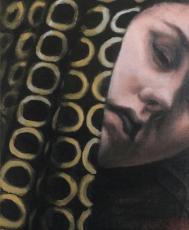 'Katinka Study' Oil on canvas mounted on panel.