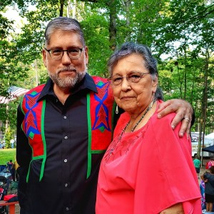 Mike with his mom at the Baraga Powwow 2019