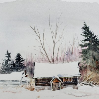 """Painting titled """"Forgotten Cabin in Mt. Pleasant"""""""