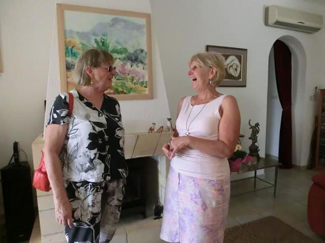 Mary-Lynne Stadler having a laugh with Lillian Hayball