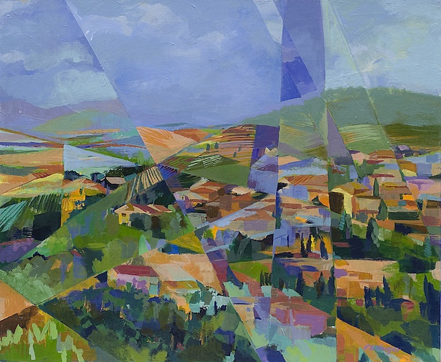 "Artist: Carol Neiger Title: Tuscany Hill Town Medium: Oil Size"" 23.75"" x 19.75"""