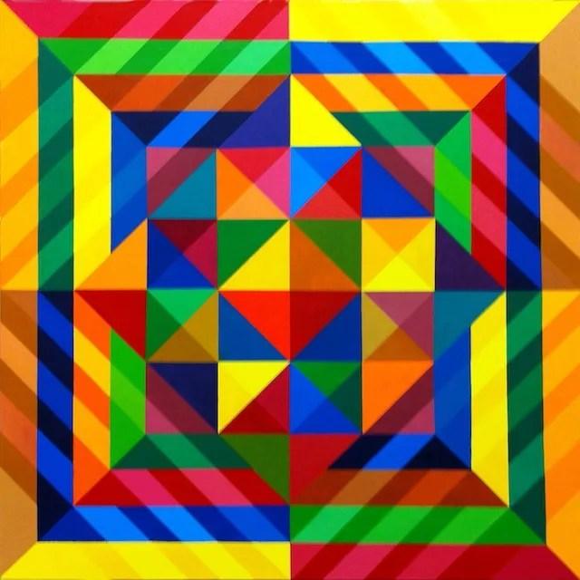 """Michael Griesgraber - Las Vegas, NV Title: Square Tilt Medium: acrylic on canvas Size: 36"""" x 36"""""""