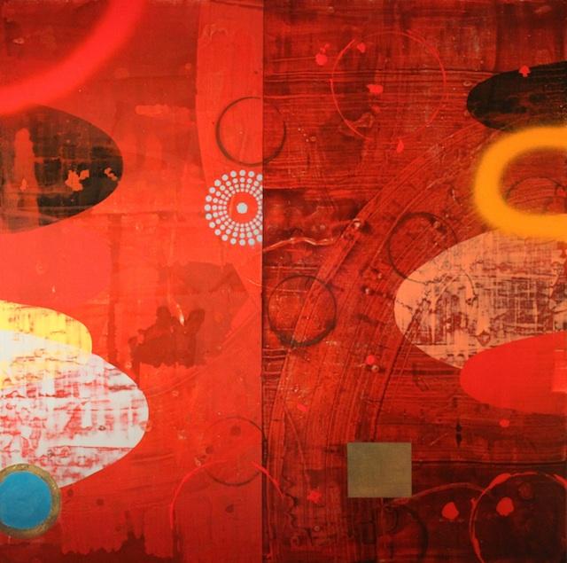 "Sean Parrish - Tampa, FL Title: Valley II Medium: acrylic Size: 30x30"""