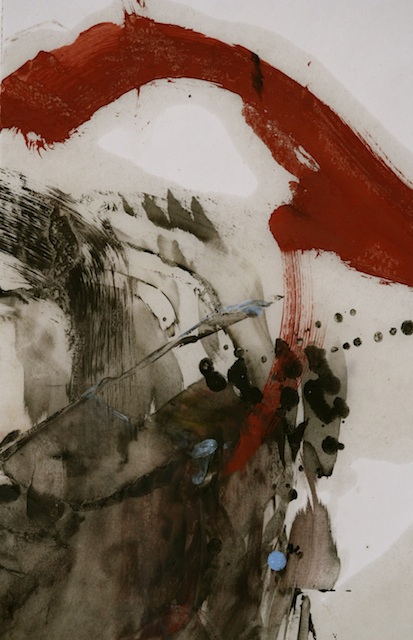 """Hildy Maze - East Hampton, NY - International Art Submission Title: of the three times Medium: oil on paper Size: 18"""" x 20"""""""