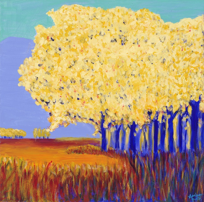 "Amber Buck - Woodland, WA Title: Country Trees Medium: acrylic on canvas Size: 20""x20"""
