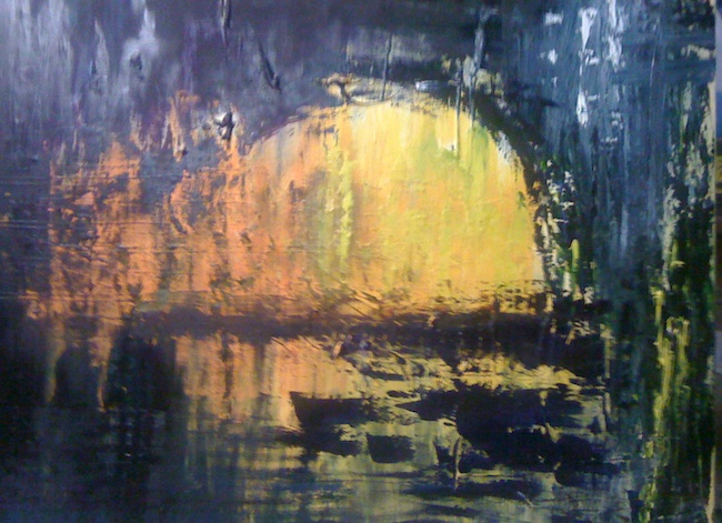 John Eger - La Jolla, CA Title: reflection Medium: oil Size: 3' x 4'