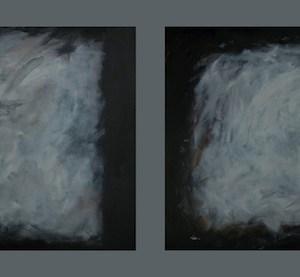 "Matthew Felix Sun Title: Diptych - Dawn Medium: Acrylic and Oil on Canvas Size: 24""x30"" & 24""x30"""