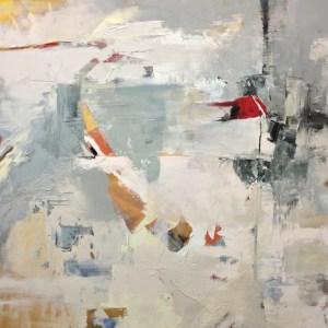 "Title: Birds and Snow Medium: oil on canvas Size: 30"" x 30"" x 1.5"""