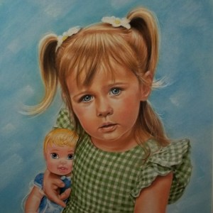 Title: Nora Medium: Mixed Media - Pastel, Colored Pencil Size: 14 x 17