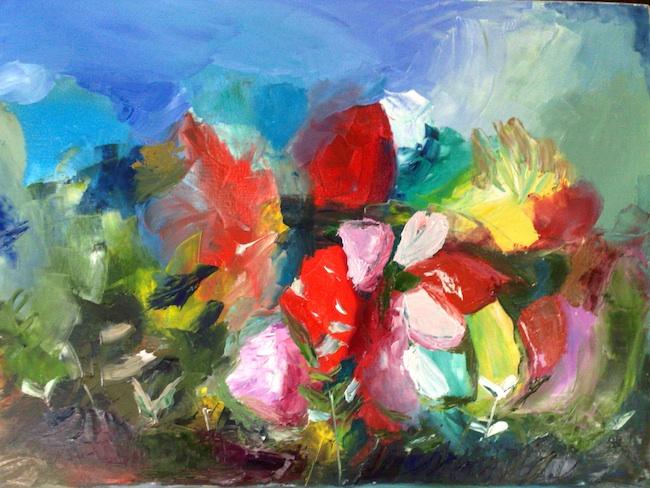 Title: Garden Medium: oil on canvas Size: 80cm X 60cm