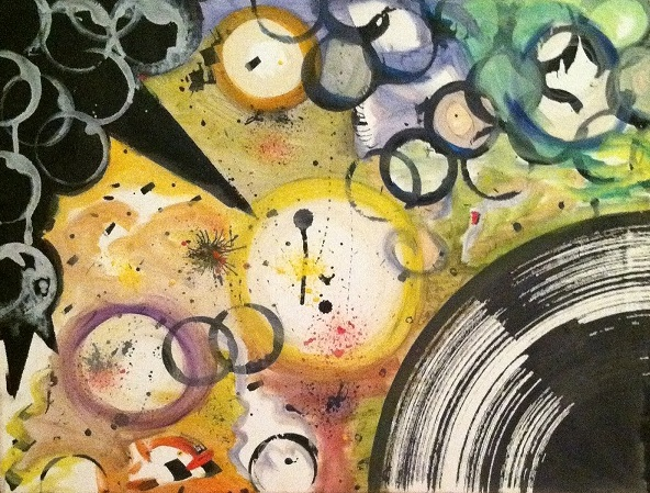 "Brandon ""Be Cee"" Akhtab - Jersey City, NJ Title: The Last Sphere Medium: Canvas with Acrylic Painting Size: 18x24"