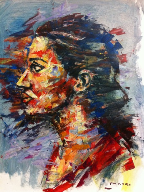 TitleMagda   MediumMixed media on canvas   Size50x70cm