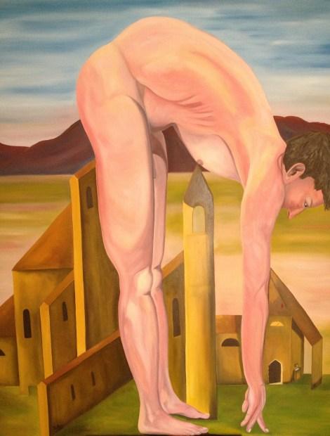 "TitleParadox of Reality   MediumOil on Canvas   Size49""x62"""