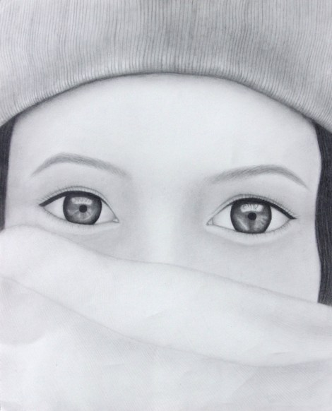 TitleBundled Up   Medium	Graphite   Size	18 x 24
